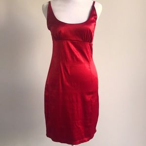 APRIL party red dress with zipper body con style